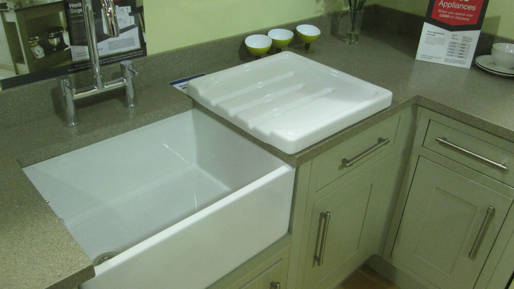 Double Bowl Ceramic Sink With Drainer : COUNTRY KITCHEN CERAMIC BELFAST SINK KITCHEN DRAINER / COUNTRY KITCHEN ...