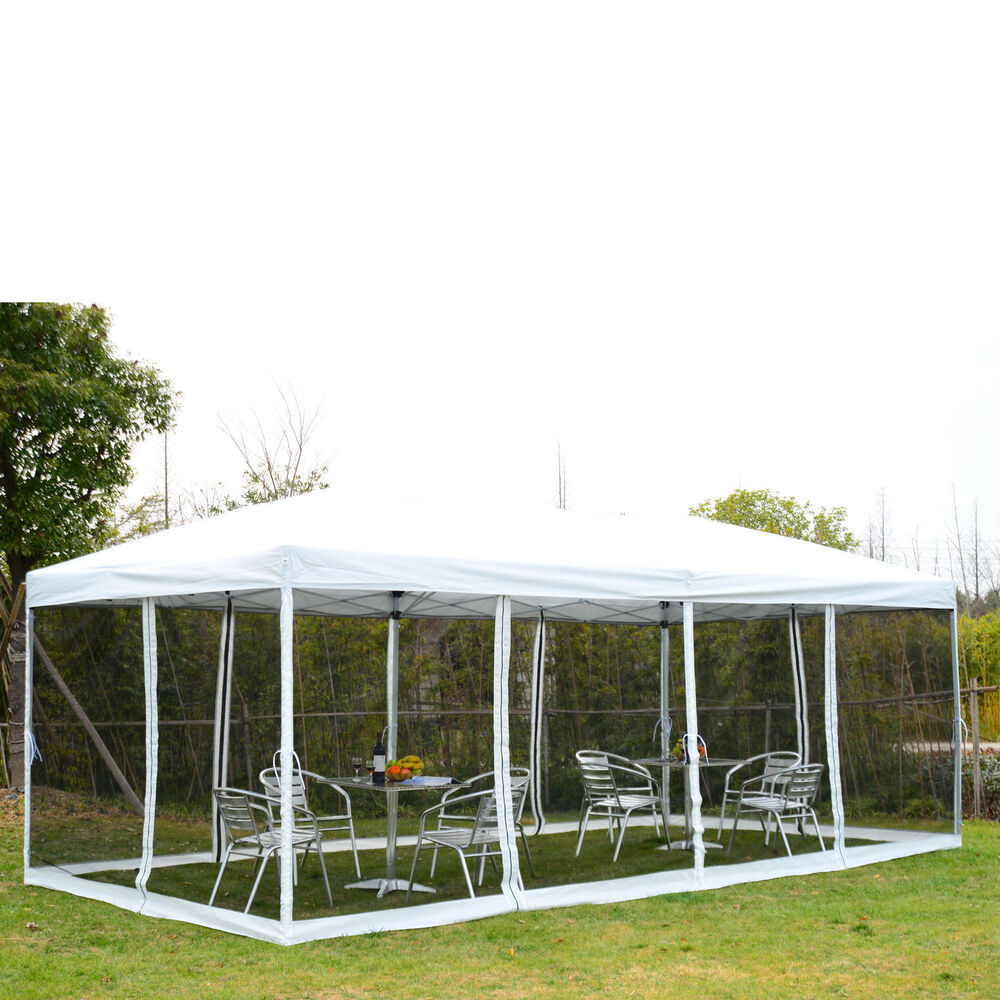 Outsunny Outdoor 10x20ft Pop Up Party Tent Canopy Gazebo W