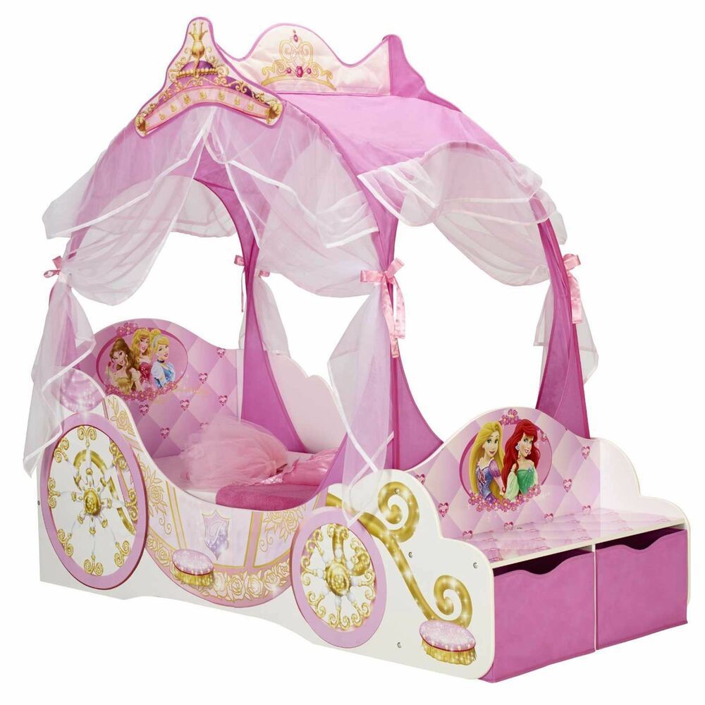 Disney Princess Carriage Junior Toddler Bed New With Storage