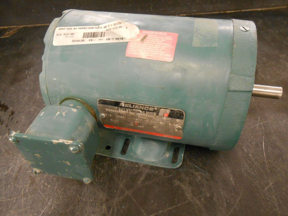 Reliance duty master p56h3927m 1 5hp electric motor ebay for Duty master ac motor reliance electric