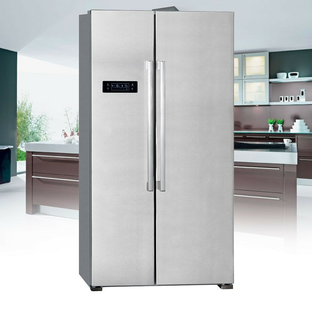 517l side by side k hlschrank twist eis maker eek a exquisit sbs 550 4 a inox ebay. Black Bedroom Furniture Sets. Home Design Ideas