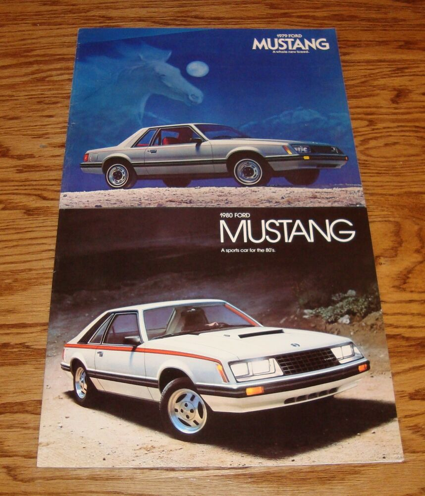1979 1980 1981 1982 1983 ford mustang brochure lot of 5 79 2007 Ford Mustang 2011 Ford Mustang