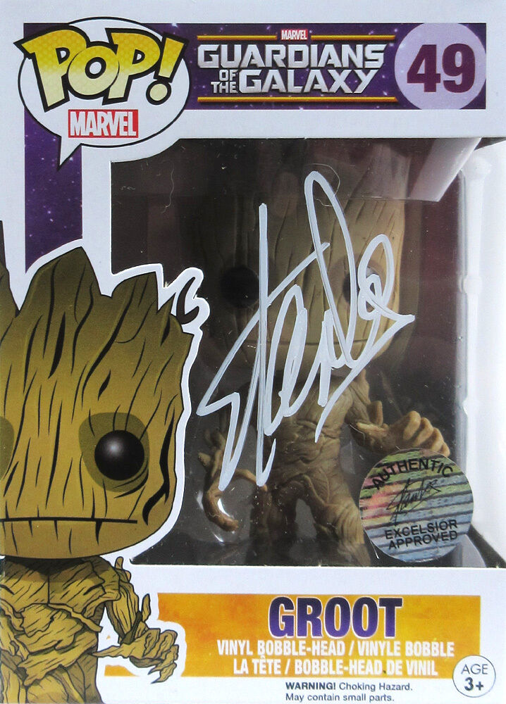Stan Lee Signed Funko Pop Guardians Of The Galaxy Groot
