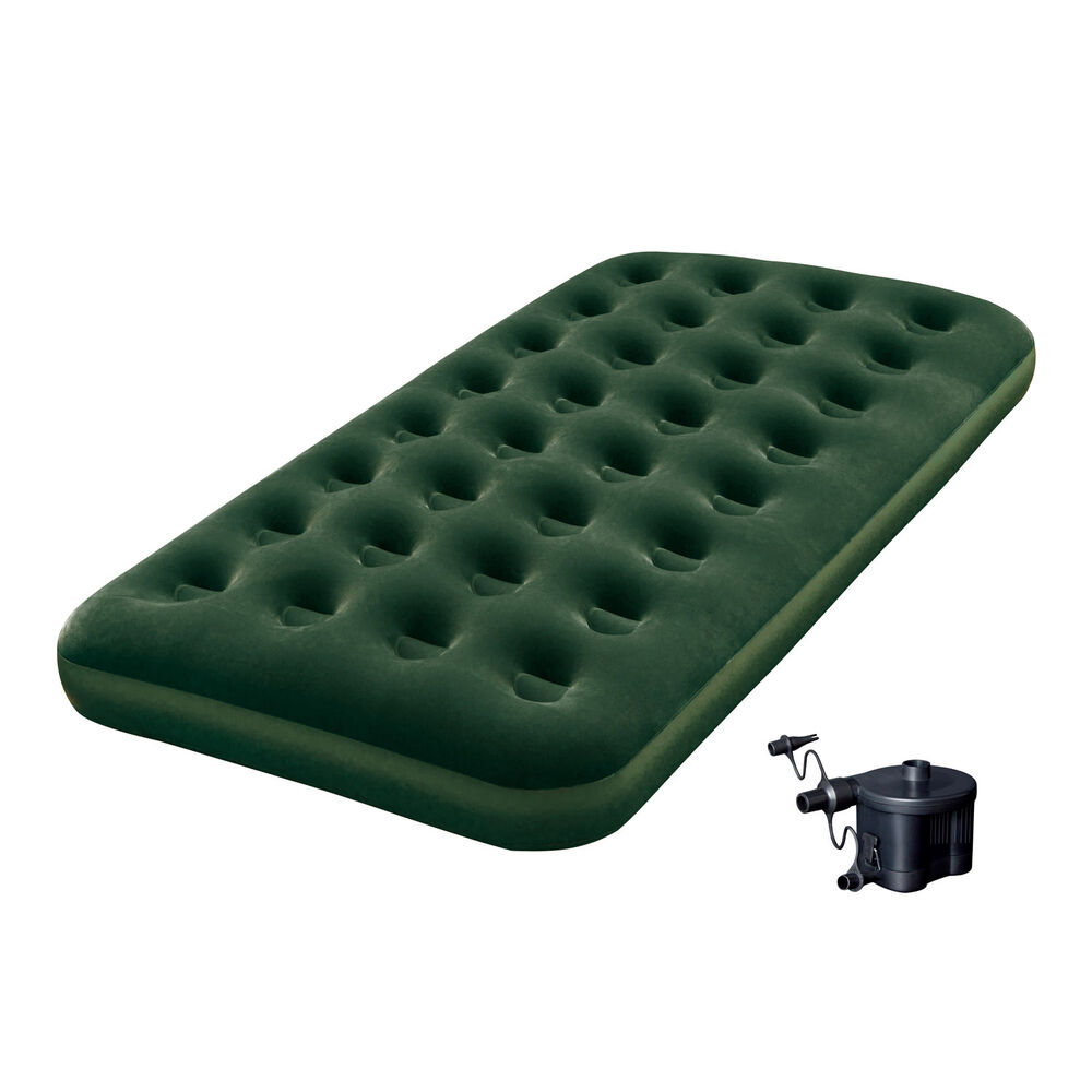 Bestway Inflatable Flocked Camping Airbed Mattress W Air