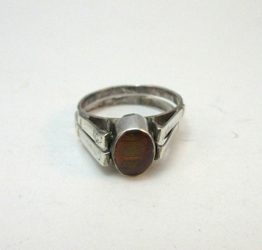 What Is Amber Sterling Silver Ring