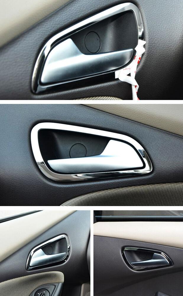 Interior Inside Chrome Door Handle Cover Trim Ford Focus 2012 2013 2014 Ebay