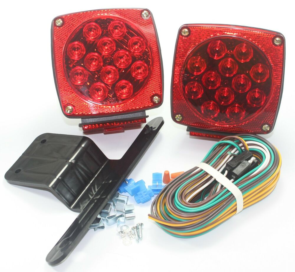 Waterproof Red Submersible Trailer Boat Led Light W Kits