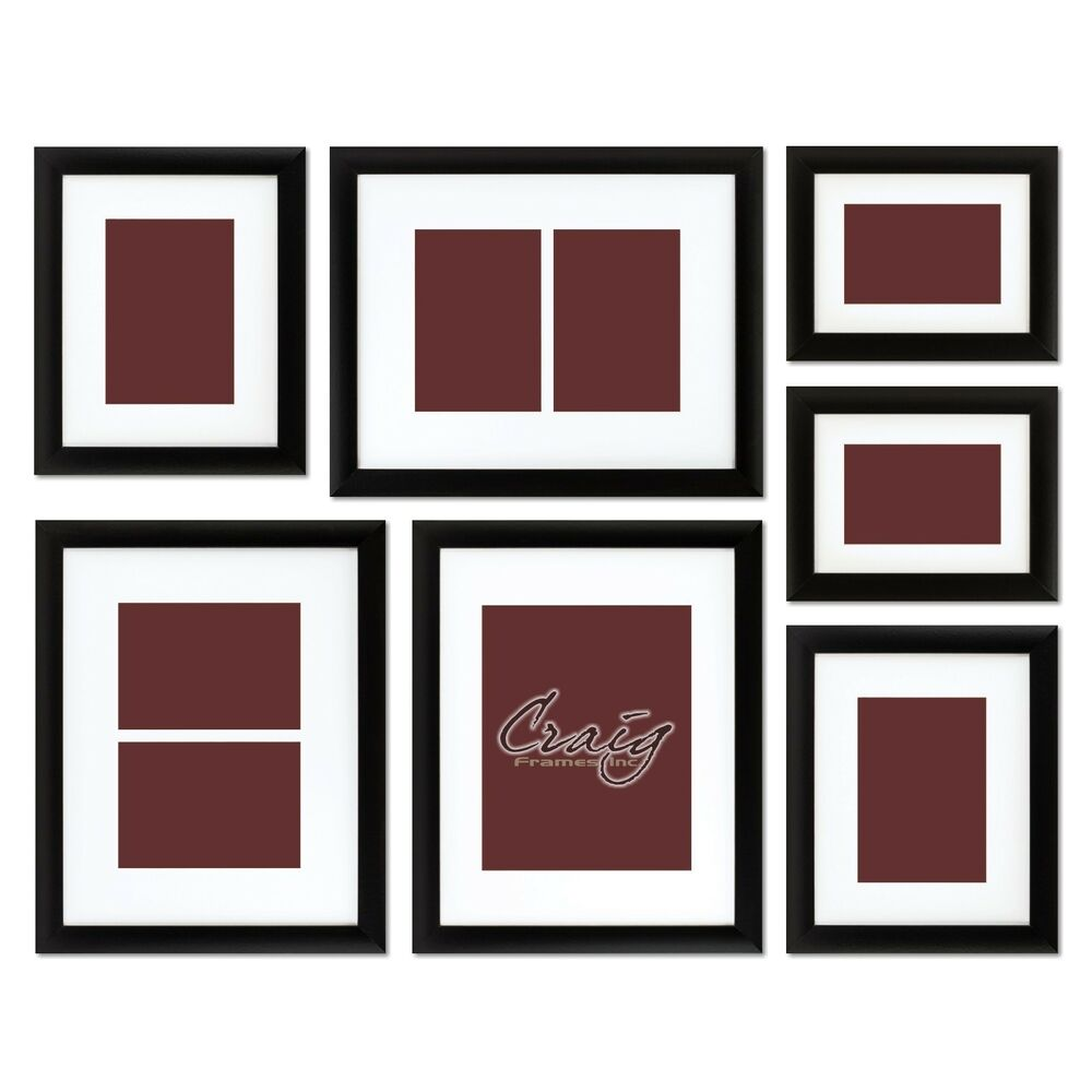 Craig Frames 1wb3bk Picture Frame 7 Piece Wall Set With