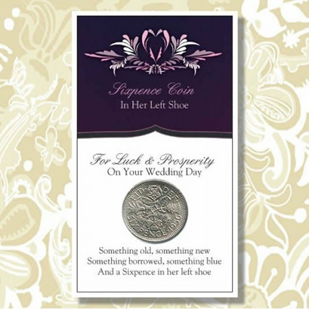 6 Pence Wedding Gift : And a Sixpence in her Left Shoe Wedding Good Luck Tradition eBay