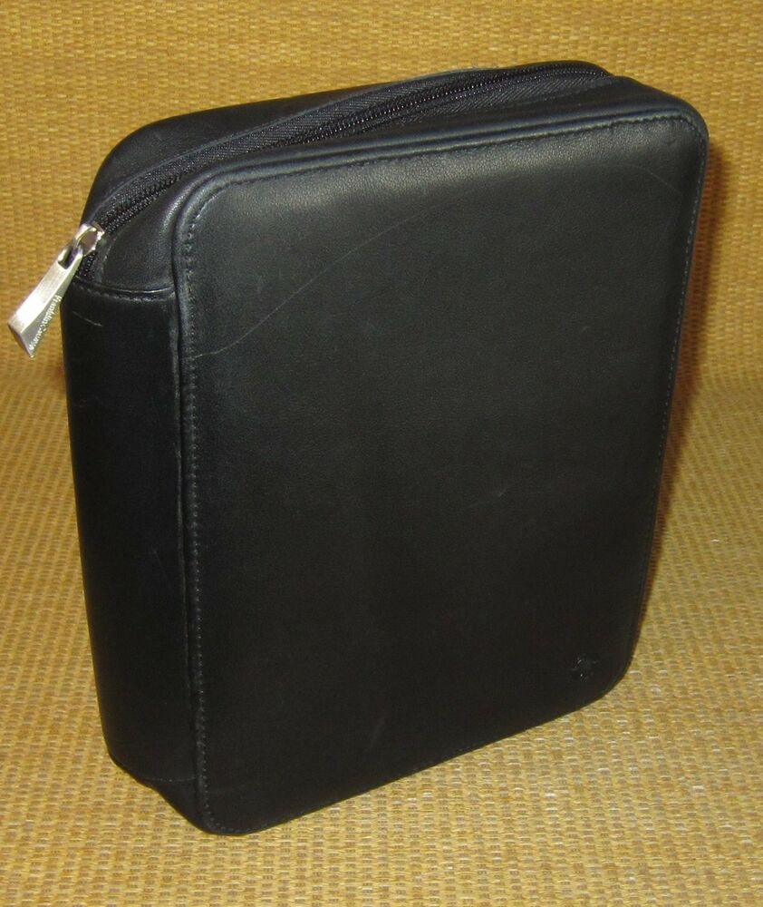 Black LEATHER FRANKLIN COVEY Zip