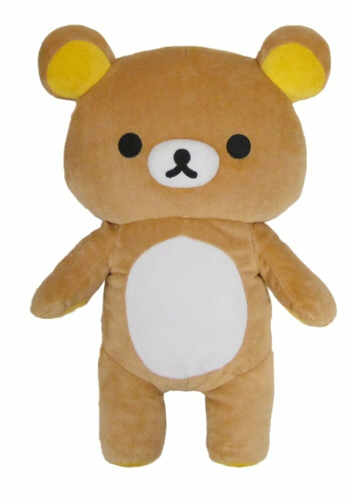 Japanese Plush Toys : Brown rilakkuma medium relaxed japanese teddy bear stuffed