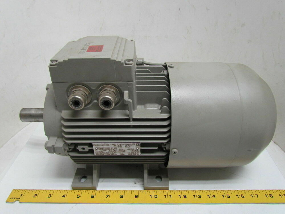Siemens 1la7107 4aa60 z 3kw 4 6hp electric motor lenze for 450 hp electric motor