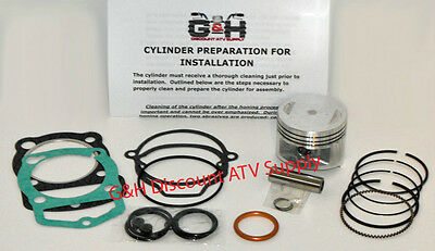 QUALITY Honda ATC 200X Cylinder Top End Rebuild Kit Machining Service Engine