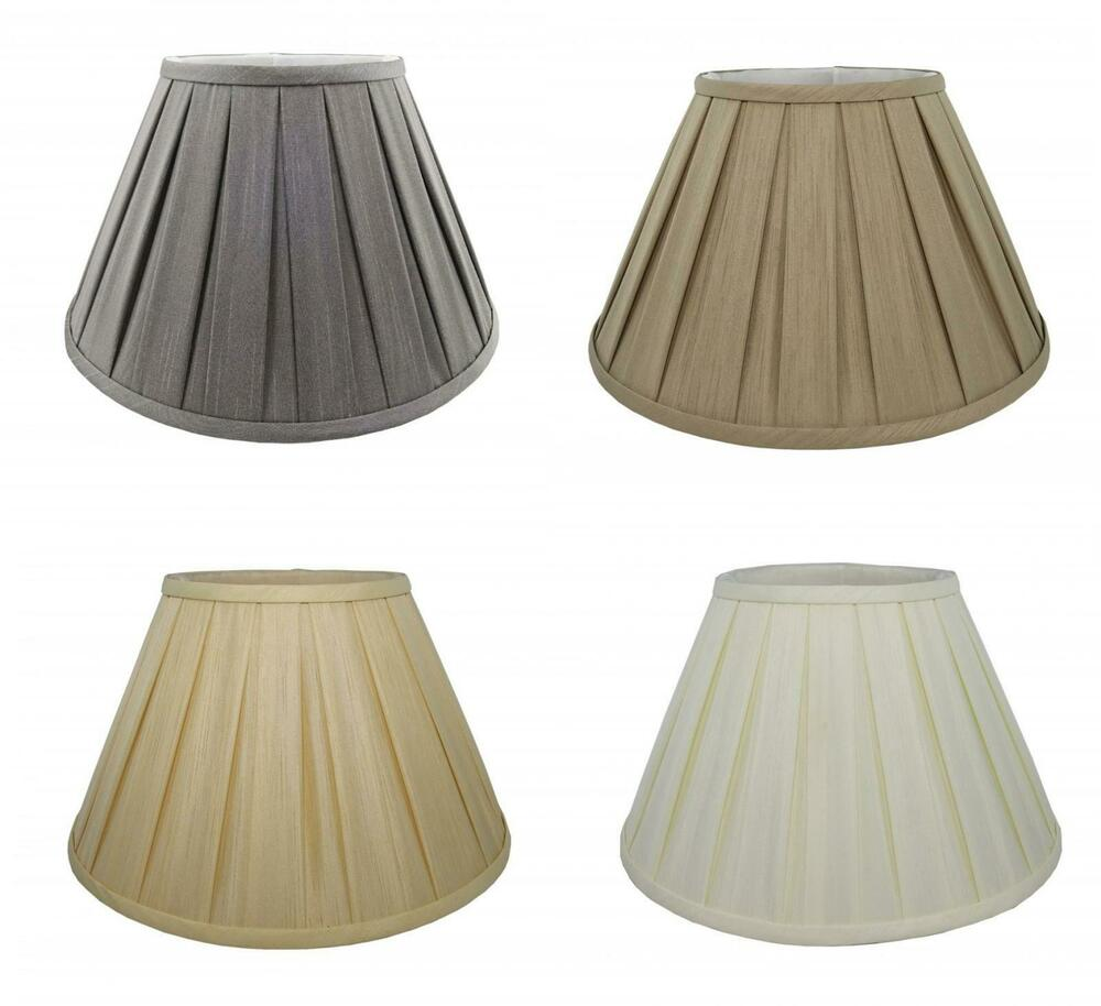 Pleated Lamp Shades For Table Lamps: 6'' To 20'' Fabric Box Pleat Lamp Shade Table Light