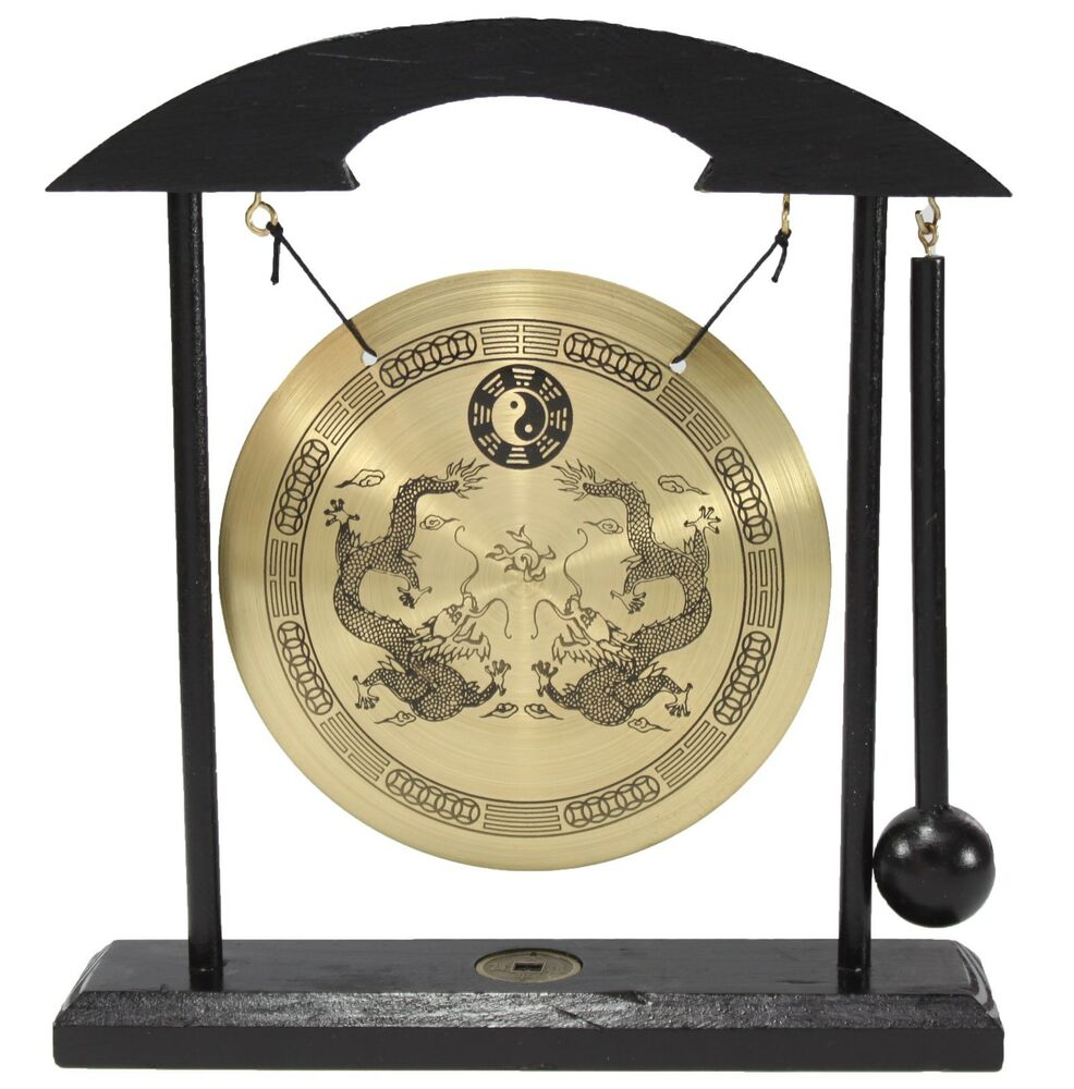 Zen Table Gong Dragon Feng Shui Meditation Desk Bell Home
