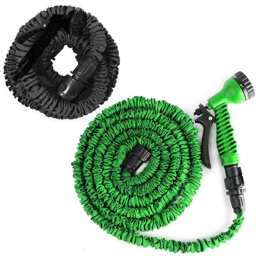 50ft 75ft 100ft 150ft Expandable Flexible Garden Hose Pipe Gun Spray Nozzle New Ebay