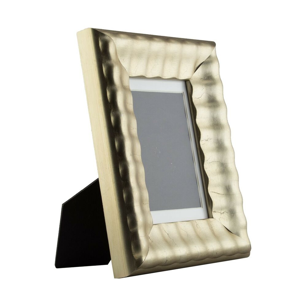 cascades table top 4x6 vintage silver standing picture frame with mat ebay. Black Bedroom Furniture Sets. Home Design Ideas