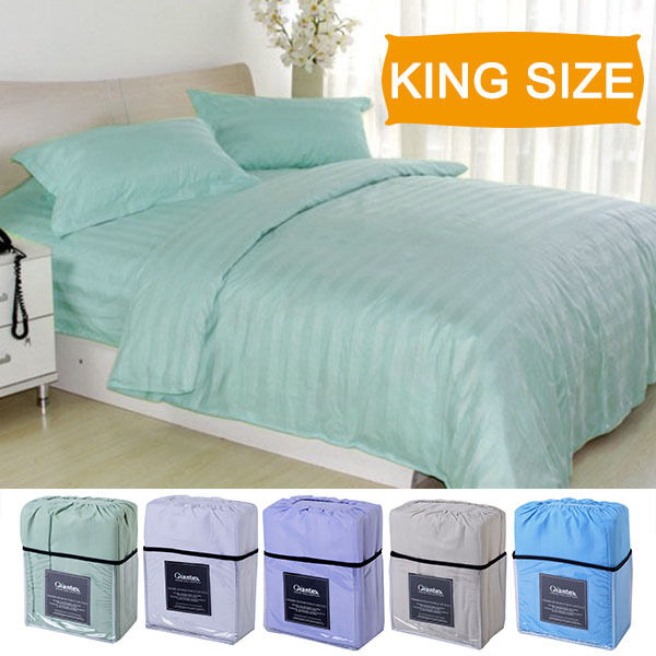 4 Piece Bed Sheet Set Deep Pocket 5 Color Available King