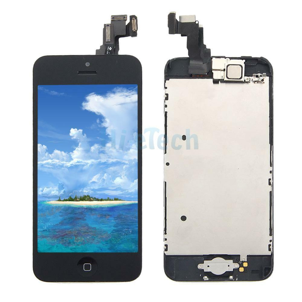 iphone home screen button a complete black lcd touch digitizer screen home button 15299