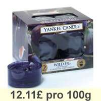 Yankee Candle Tea Light, Wild Fig, Scented Candle, Teapot Warmer, Set of 12