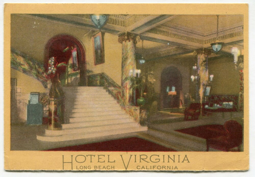 1927 Postcard Hotel Virginia Long Beach Ca Ebay
