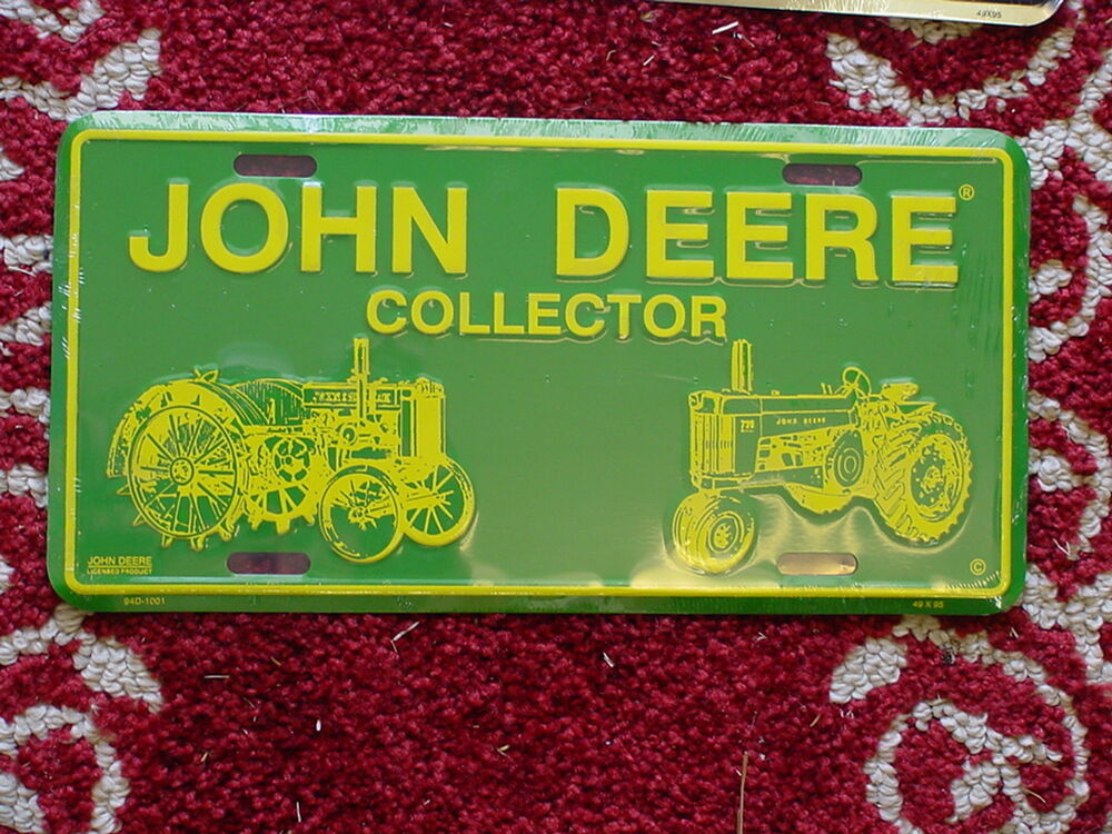 John Deere Plates : John deere tractor collector metal license plate new ebay