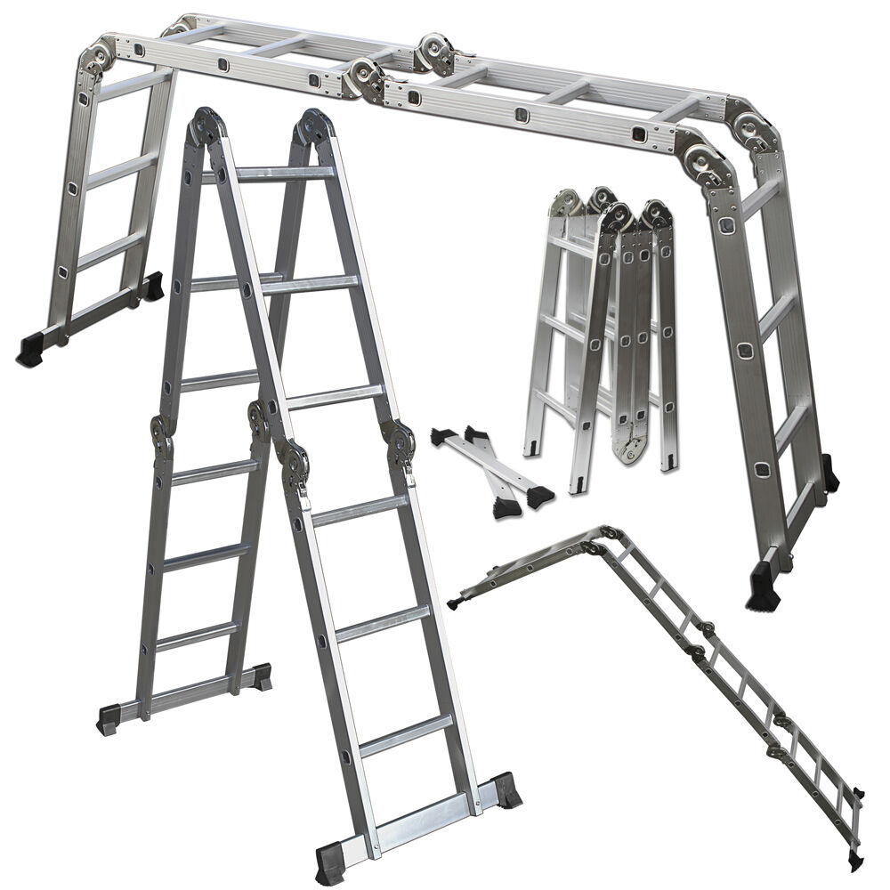 Scaffold Ladder Heavy Duty Giant Aluminum 11 5 Ft Multi