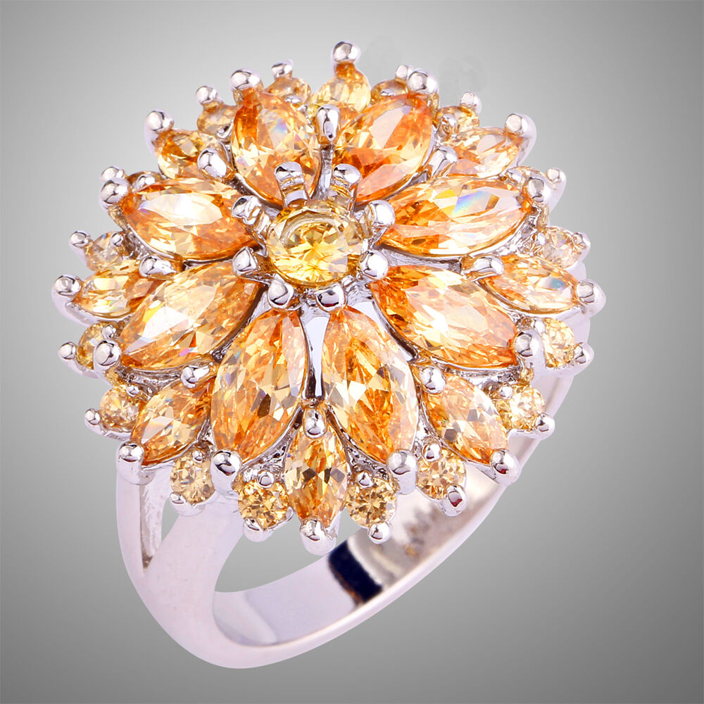 high end morganite gemstones jewelry gift silver ring size