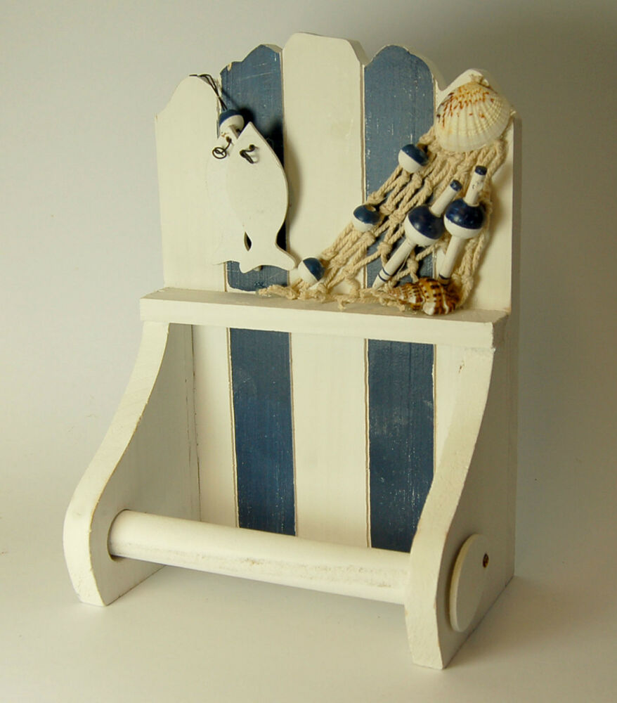nautical toilet paper stand nautical seaside woooden toilet roll holder blue amp white 568