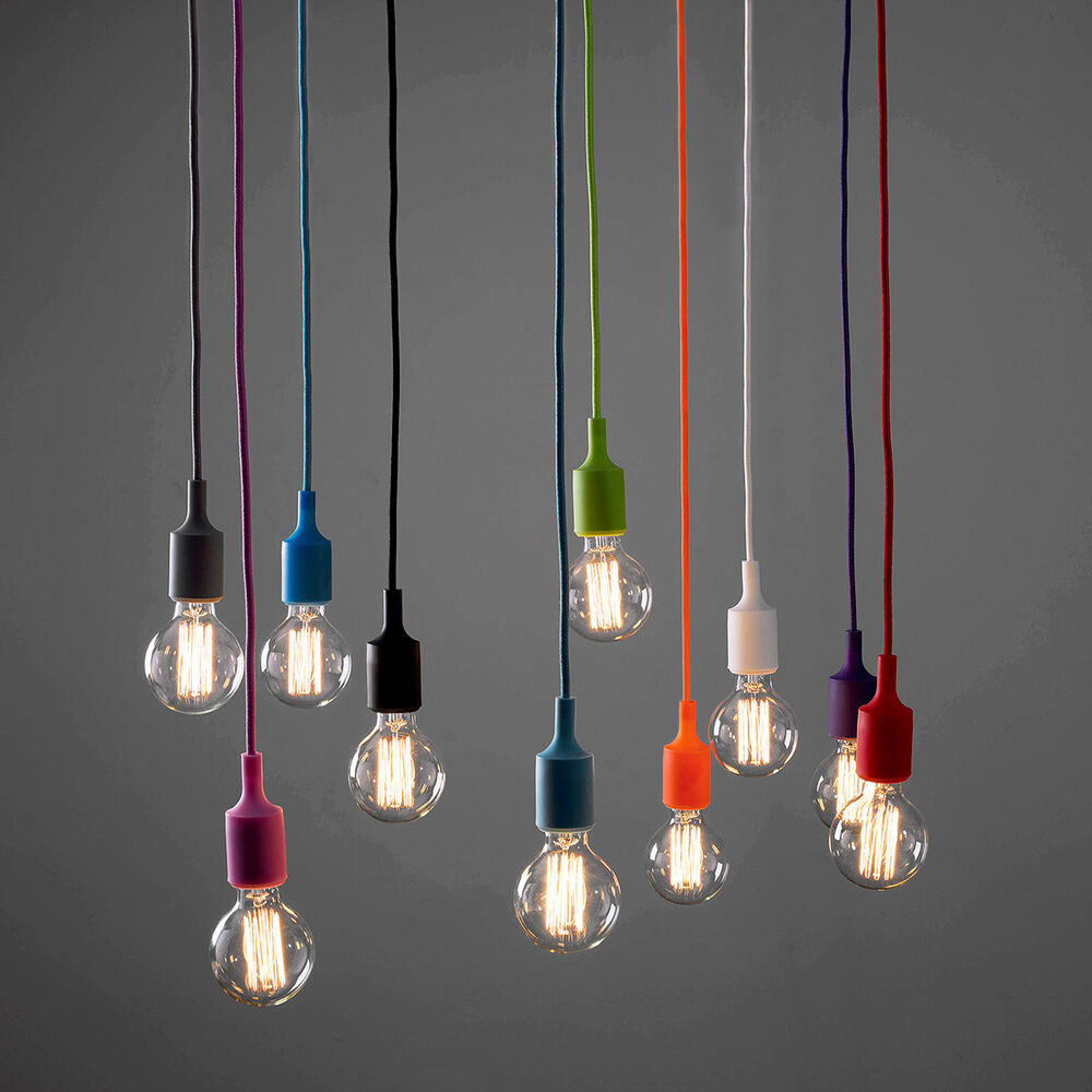 Hanging Light Fittings Wholesale: Modern Ceiling Rose Fabric Cable Pendant Lamp Holder Light