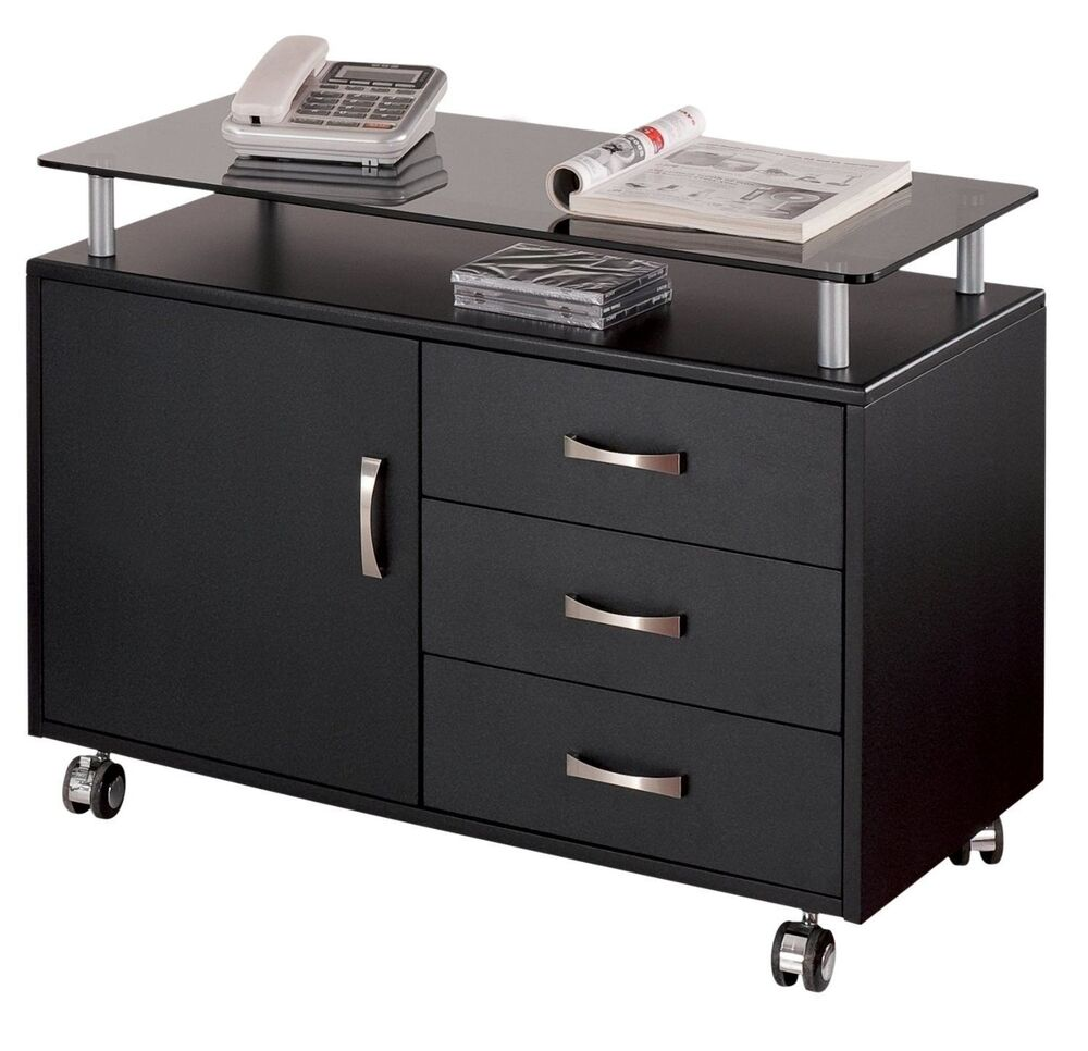 Storage File Cabinet Home Office Filing Stand
