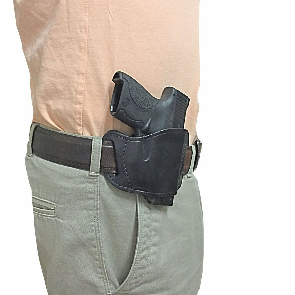 S&W M&P Shield (9MM) Leather gun holster RH | eBay