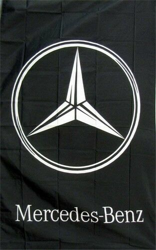 Mercedes benz vertical logo dealer banner flag sign ebay for Mercedes benz sign in