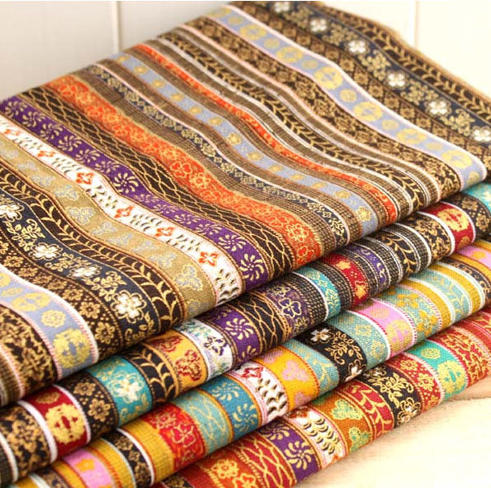 4pcs cotton and hemp pre cut cotton quilt cloth fabric for for Cheap sewing fabric