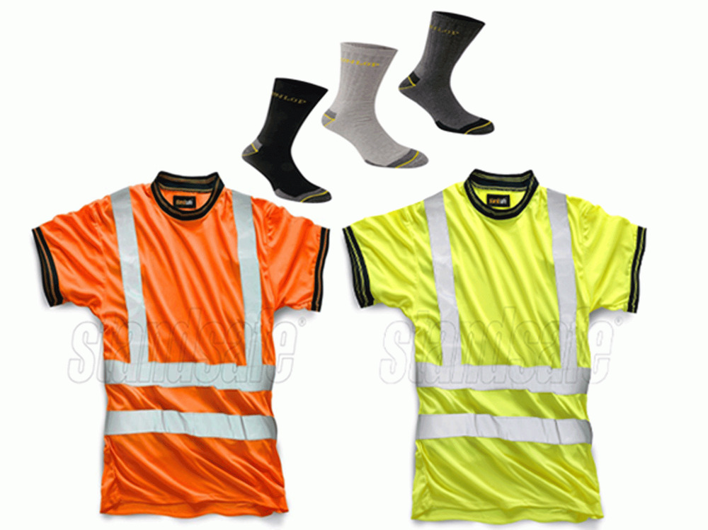 Standsafe reflective high visibility hi vis viz work t for Hi vis shirts with reflective tape