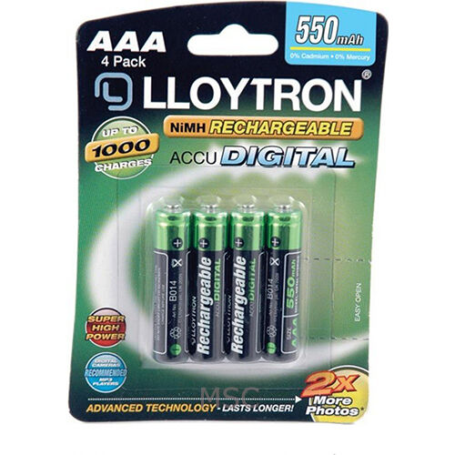 lloytron nimh accupower aaa rechargeable battery aaa 550mah 4 pack b014 ebay. Black Bedroom Furniture Sets. Home Design Ideas