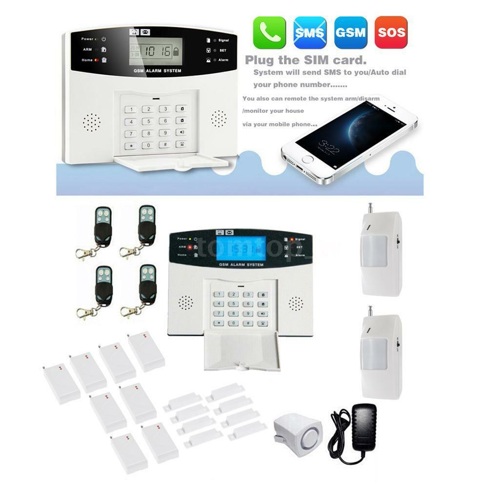Wireless Lcd Gsm Sms Home Security Burglar House Home