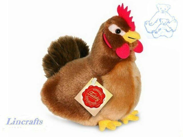 Toys For Chicks : Brown hen plush soft toy chicken by teddy hermann