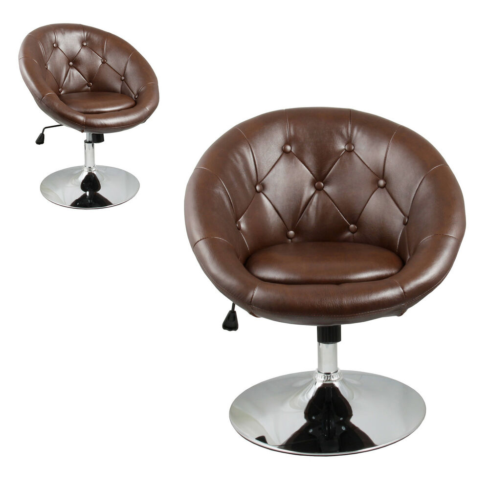 Furniture Brown Accent Chair Office Round Back Living Room