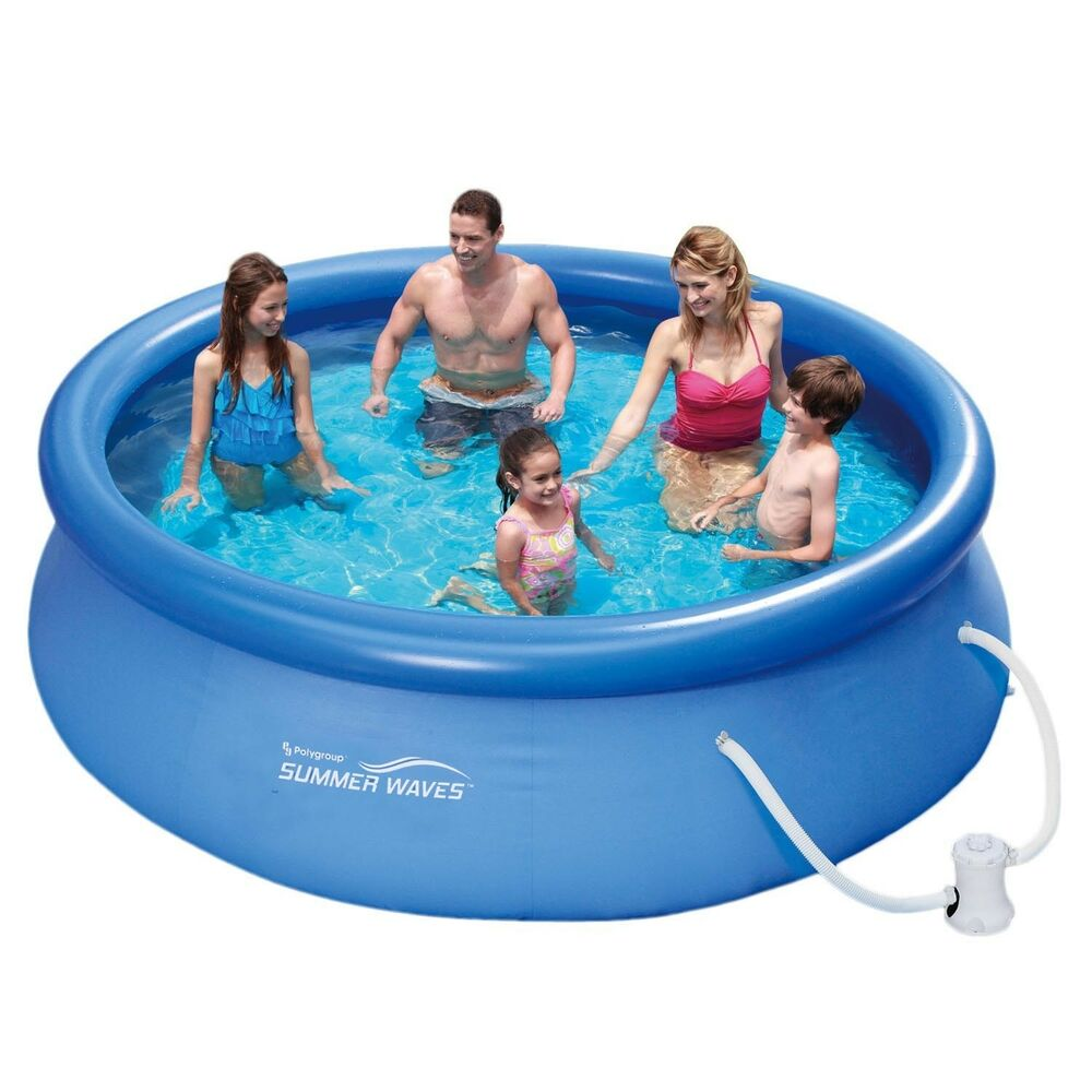 Summer waves fast set quick up pool pumpe 305x76cm for Quick up pool obi