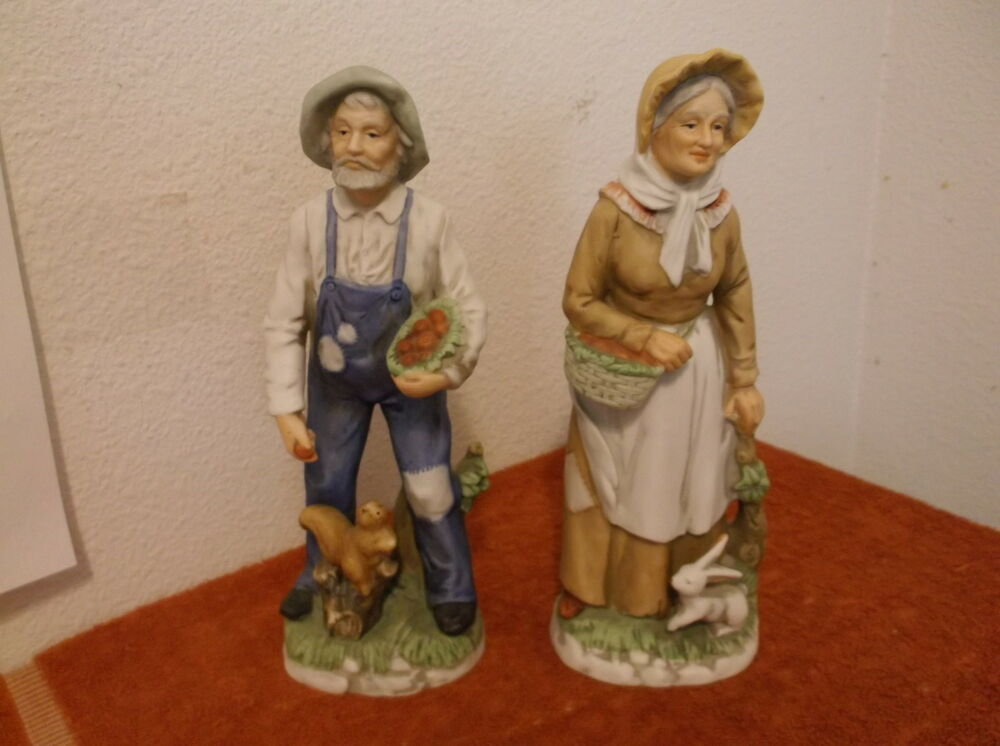 Vintage homco home interiors porcelein bisque farmer Eba home interior figurines
