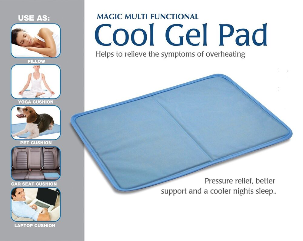 Gel Pillow Cooling Pad Cool Overheat Relief Multi