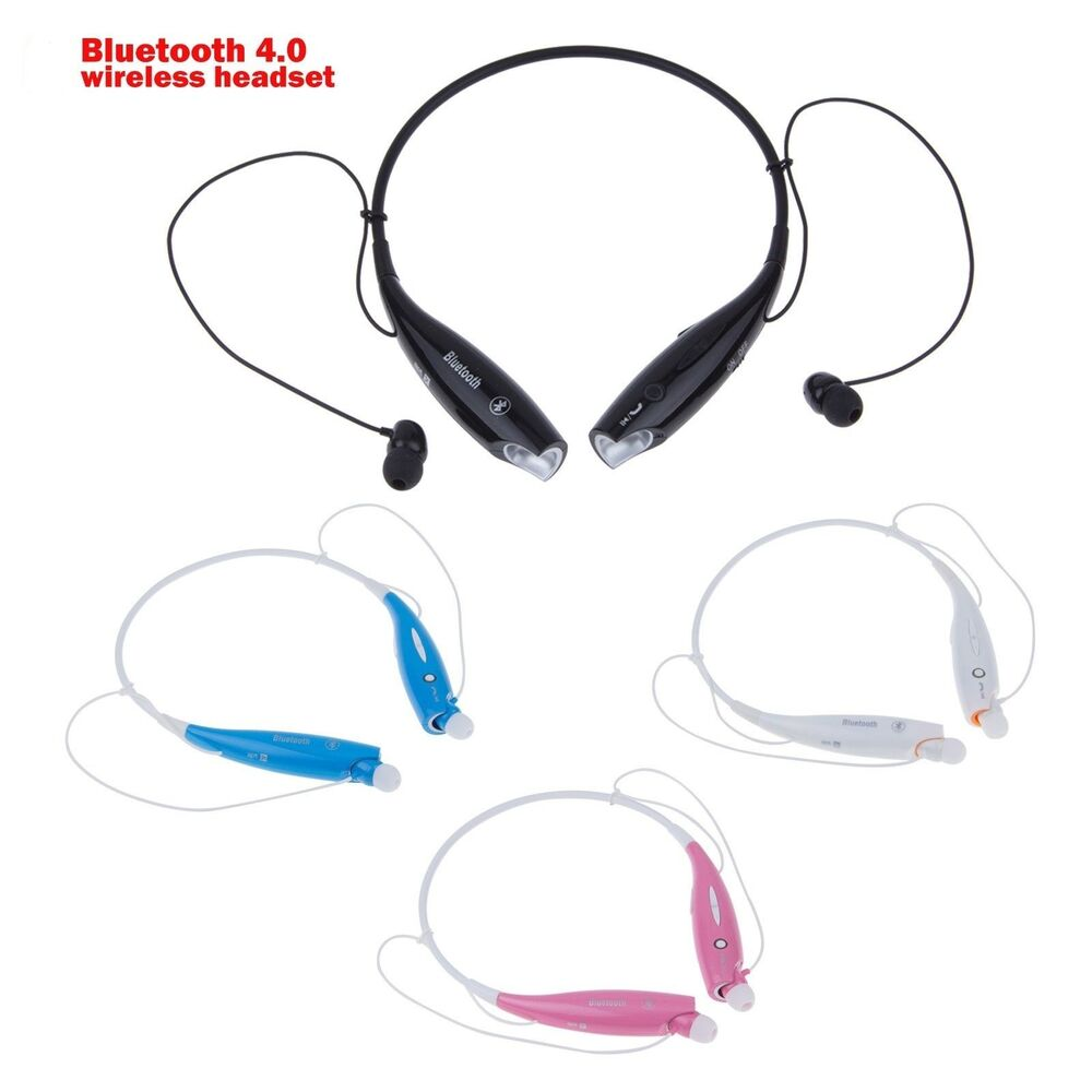 wireless bluetooth sport stereo headset earbuds for iphone 6 6 samsung lg htc ebay. Black Bedroom Furniture Sets. Home Design Ideas