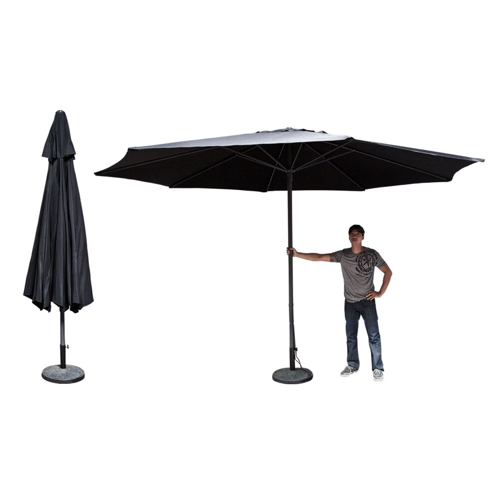 13 Ft Feet Market Patio Garden Umbrella Aluminum Canopy