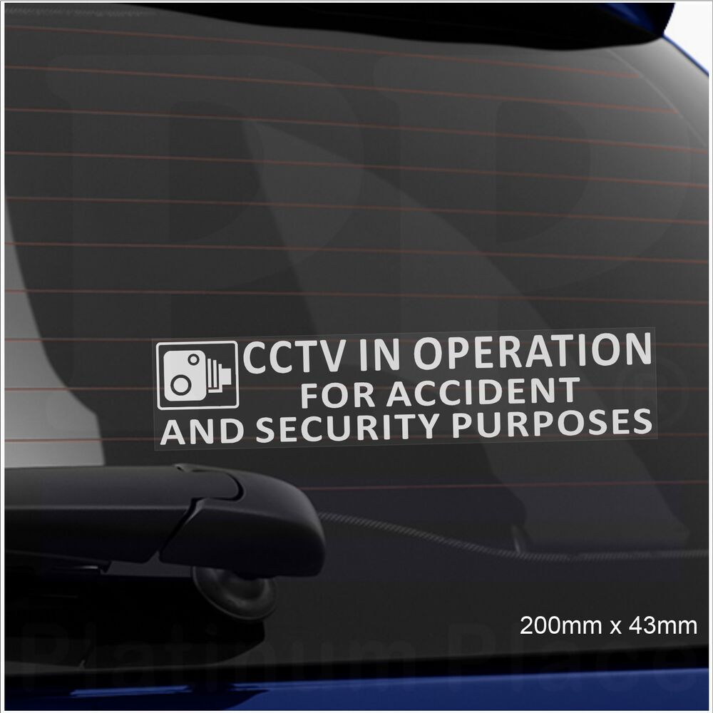 1 x cctv in operation for accident security sticker van lorry taxi car cab sign ebay. Black Bedroom Furniture Sets. Home Design Ideas