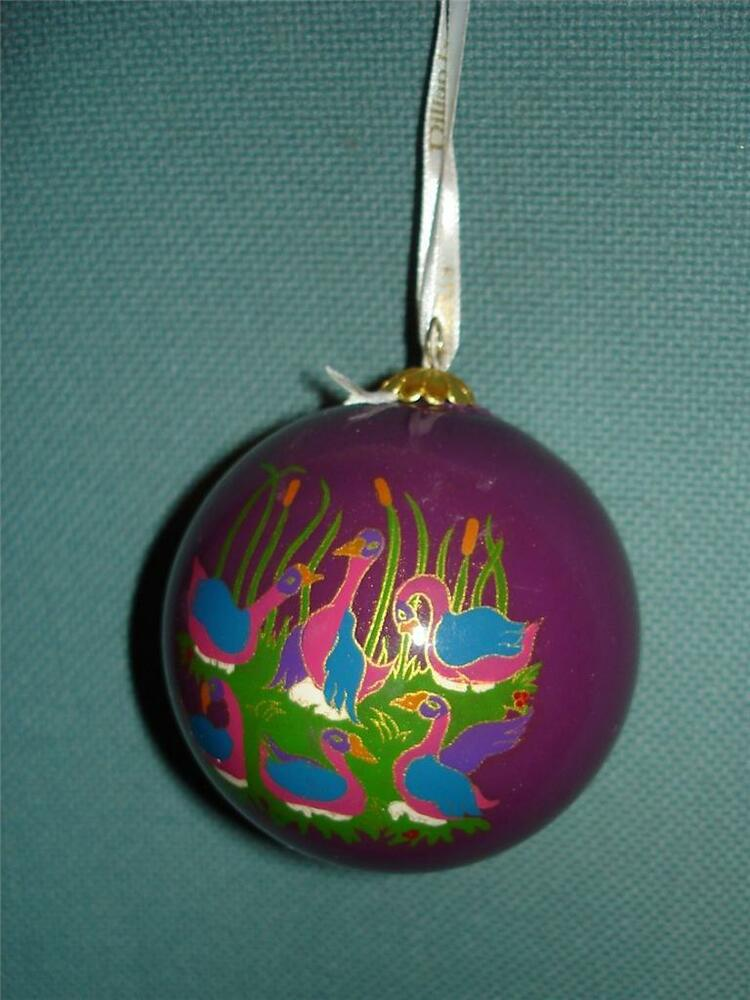 Dillards 12 Days Of Christmas Ornament Inside Painted