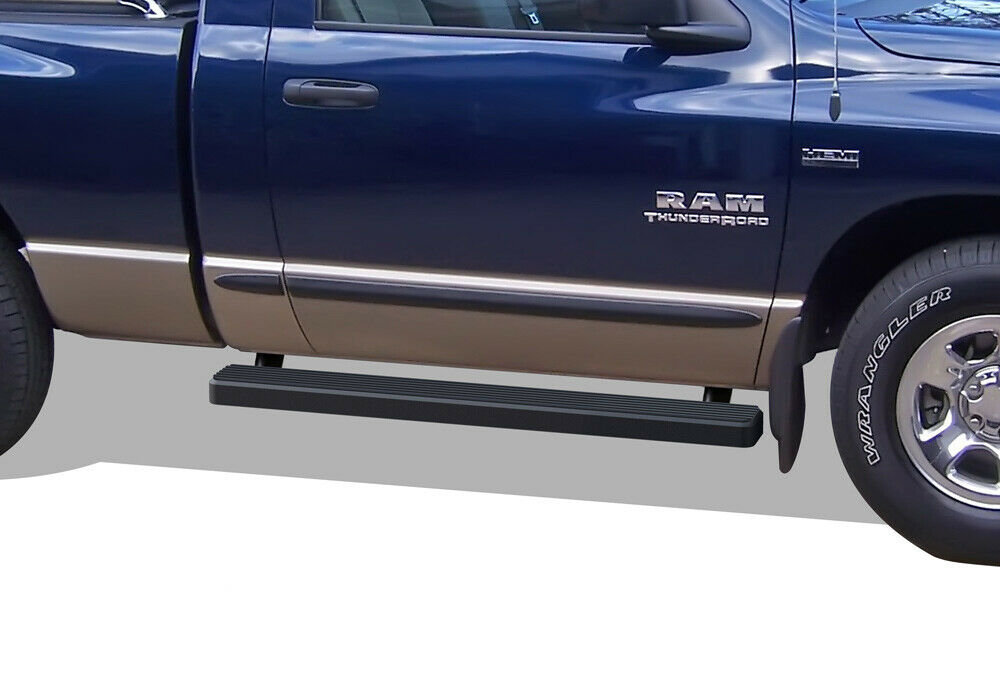"Ram 1500 Running Boards >> iBoard Running Boards 4"" Black Fit 02-08 Dodge Ram 1500/2500/3500 Regular Cab 