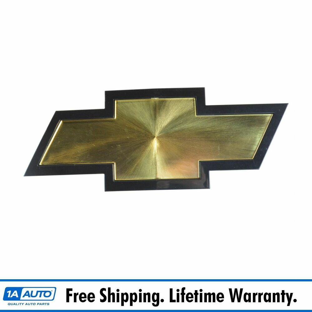 oem grille bowtie emblem gold black for chevy silverado. Black Bedroom Furniture Sets. Home Design Ideas