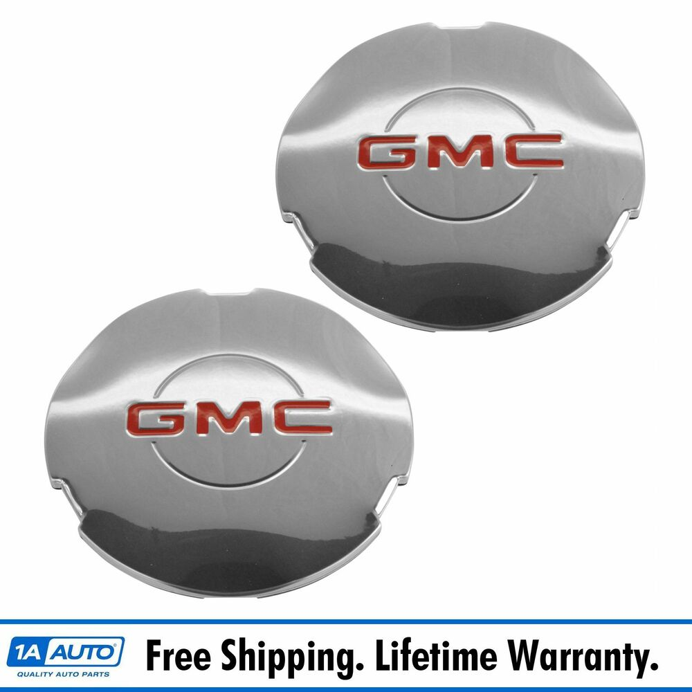Oem 15712389 Wheel Hub Center Cap Pair Chrome For Gmc