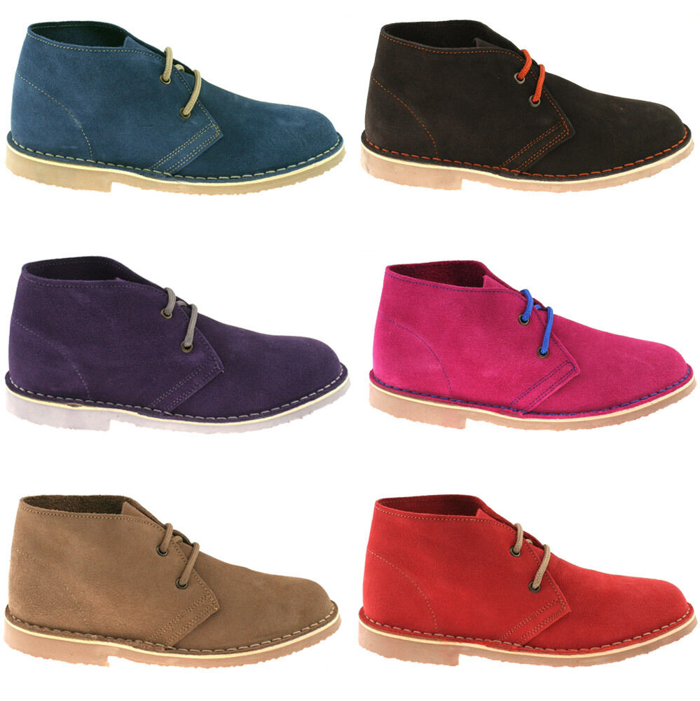 ladies roamers suede leather desert boots size uk 3 8 classic ankle l777 kd ebay. Black Bedroom Furniture Sets. Home Design Ideas